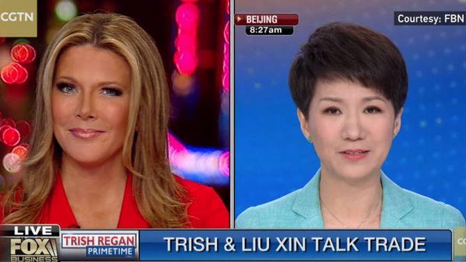 中美电视主持人就贸易战发起辩论